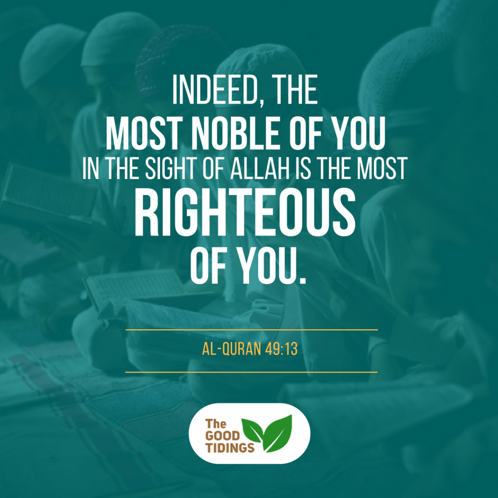 Nobody could claim themselves as the most righteous. It's in the sight of Allah alone, so we don't have to be worried about people's judgement.