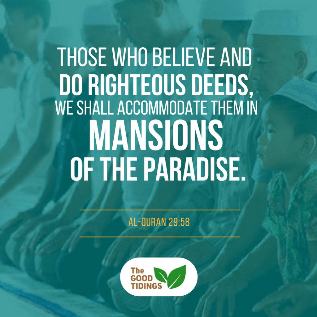 The reward is eternal Paradise! Let's keep ourselves steadfast on this Deen.