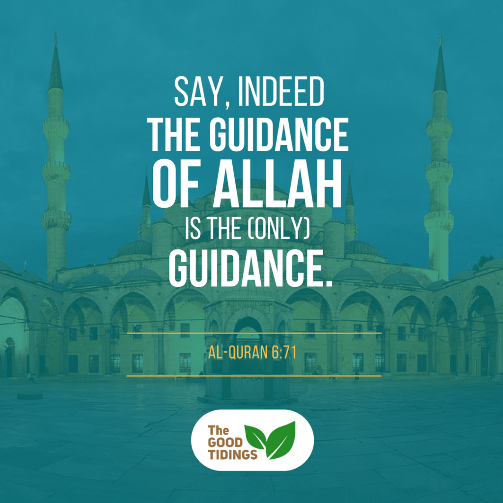 Thank you, Allah, for Your guidance.