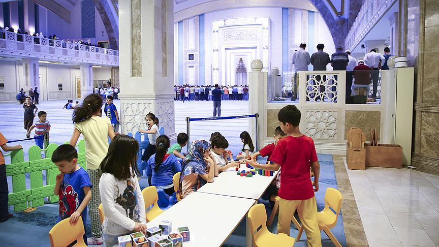 A section for kids in Ahmet Hamdi Akseki Mosque, Ankara, Turkey. How amazing is that?